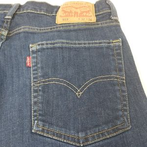 Levi's 513 Dark Wash Slim Straight Jeans 32 x 34